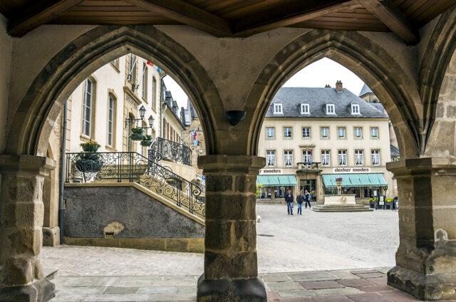 Tržní náměstí Denzelt, Echternach, Lucembursko