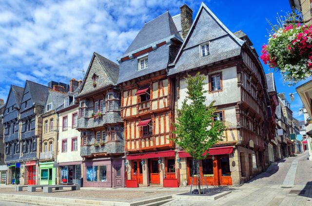 Historické centrum, Lannion, Francie