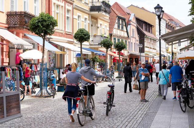 Lázeňské město Waren, Německo