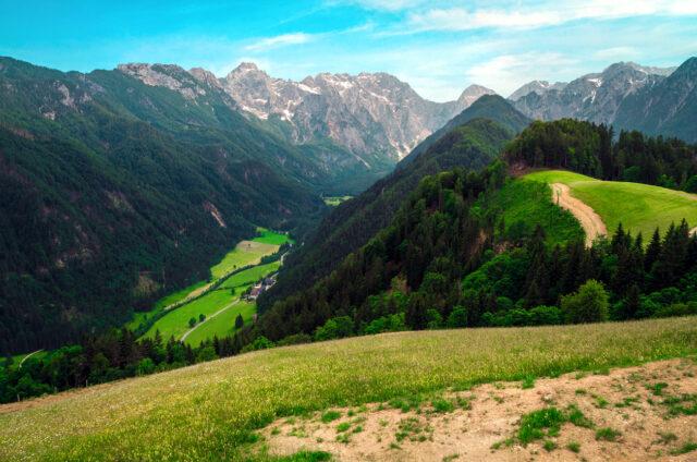 Malebné údolí Logarská dolina, Slovinsko