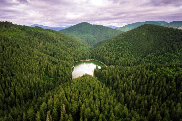 Siněvirské jezero, Ukrajina