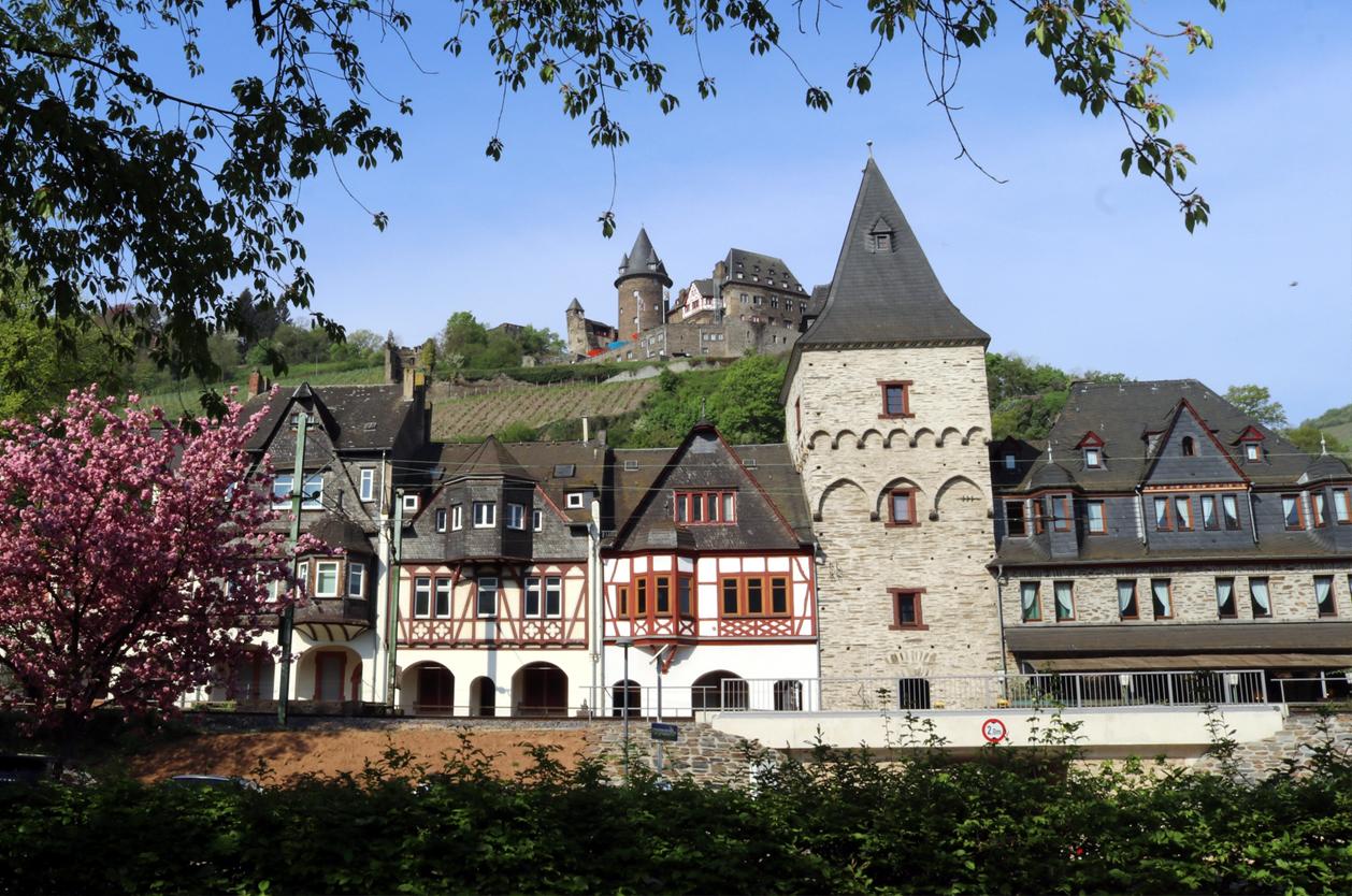 Středověké městečko Bacharach, Německo