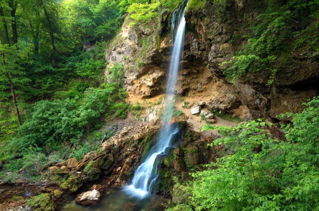 Vodopád, Lillafured, Maďarsko