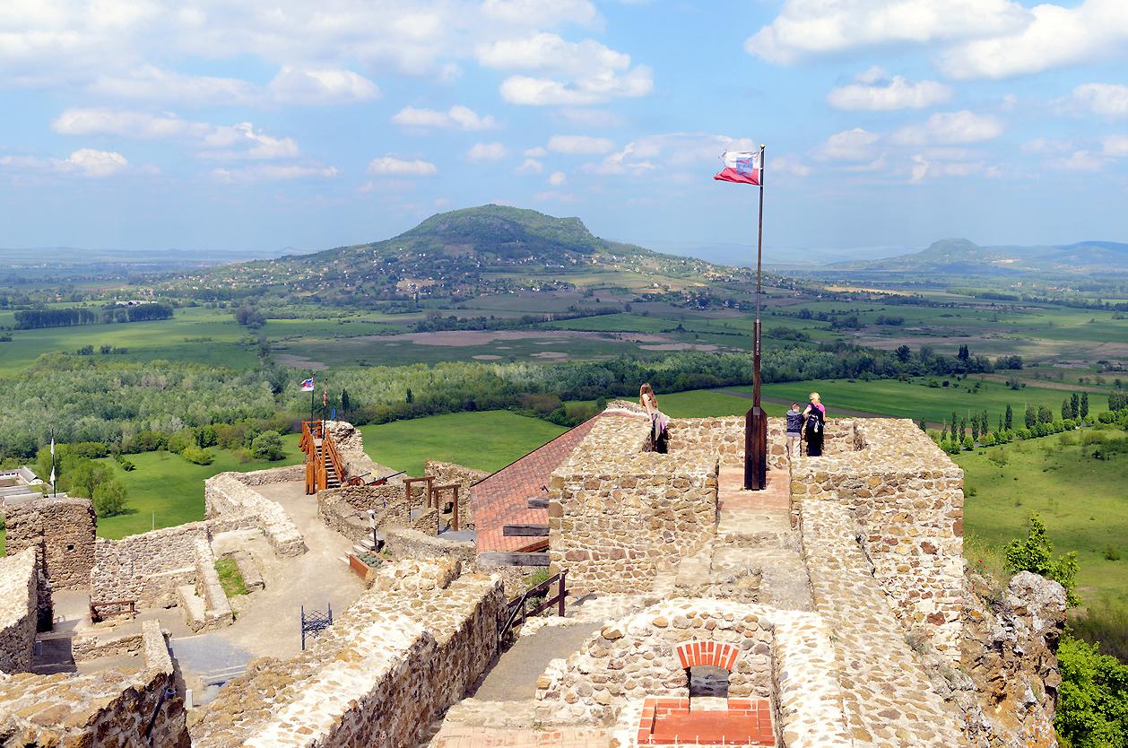 Vyhlídka z hradu Szigliget, Maďarsko