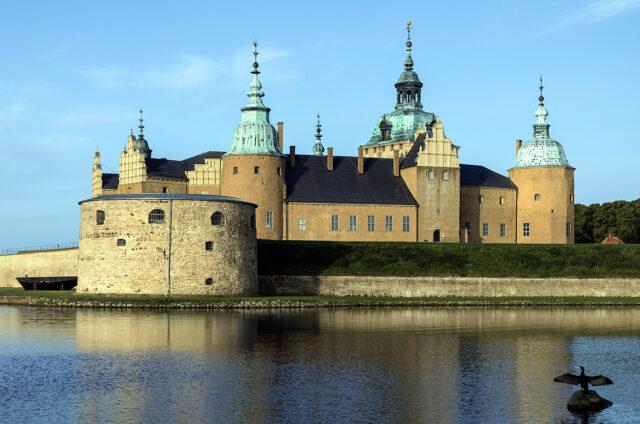 Zámek v Kalmar, Švédsko