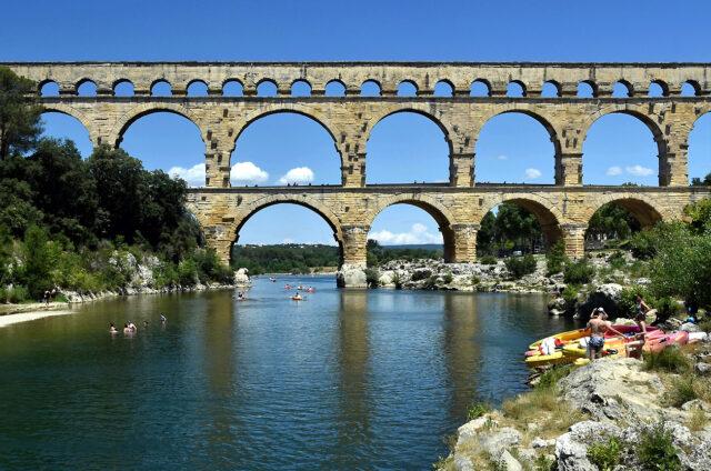 Akvadukt Pont-du-Gard, Francie