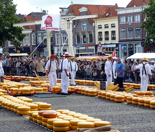 Sýrové trhy, náměstí, Alkmaar, Holandsko
