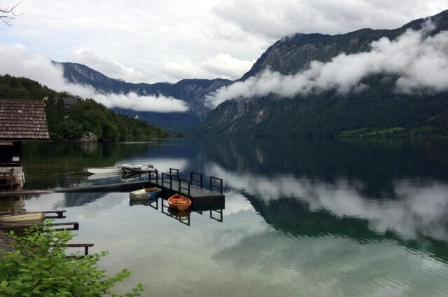 Bohinjské jezero, Slovinsko