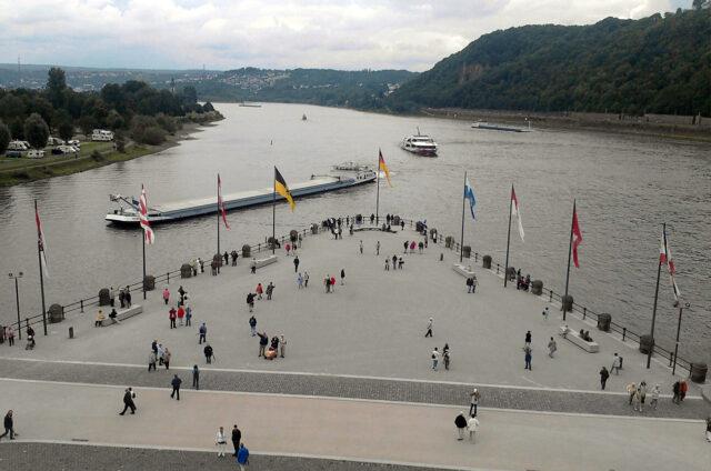 Deutsches Eck, Koblenz, Německo