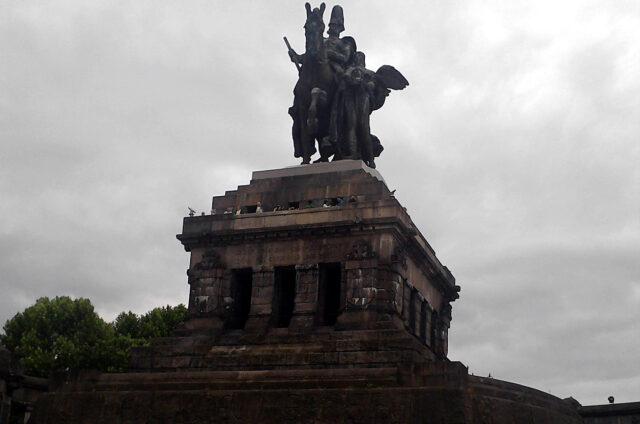 Monument, Deutsches Eck, Koblenz, Německo