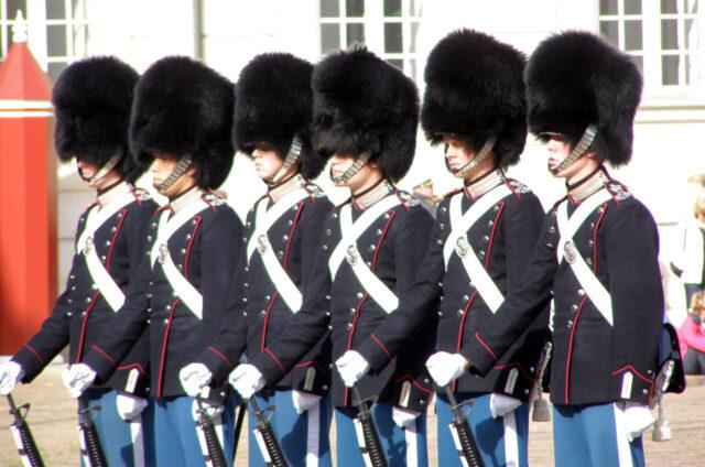 Královská garda, Kodaň, Dánsko