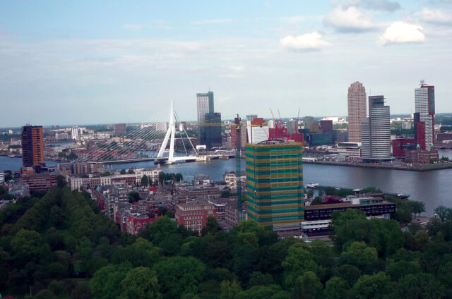 Most a panorama, Rotterdam, Holandsko
