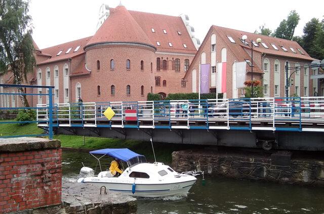 Otočný most, Gizycko, Polsko