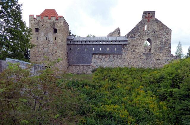 Zřícenina gotického hradu, Sigulda, Lotyšsko