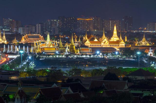 Komplex Paláce a Chrámu, Bangkok, Thajsko