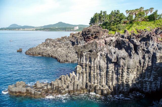 Čedičové útesy, Ostrov Čedžu, Korea