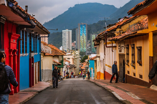 Čtvrť Barrio La Candelaria, Bogota, Kolumbie