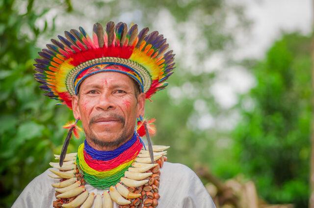 Šaman kmene Siona, Ekvádor