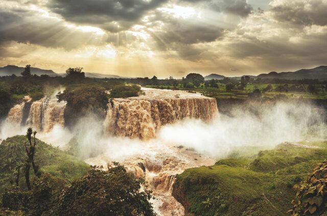 Vodopády Modrého Nilu Tiss Issat, Etiopie