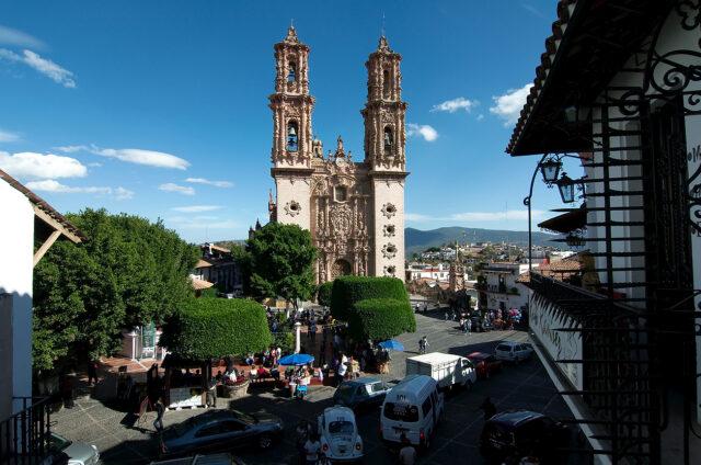Barokní katolický kostel, Taxco, Mexiko