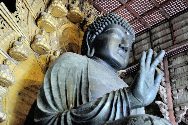 Chrám Todaidži s Velkým Buddhou, Nara, Japonsko