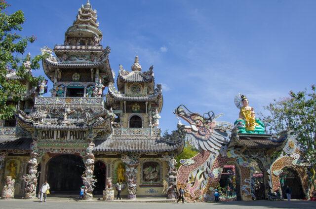 Dračí pagoda v Da Latu, Vietnam