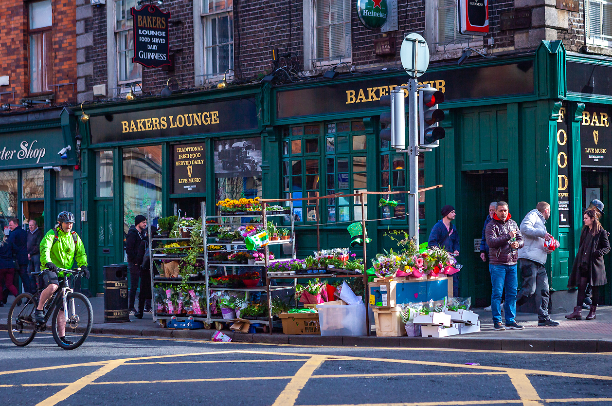 Dublin - ulice v historické části města