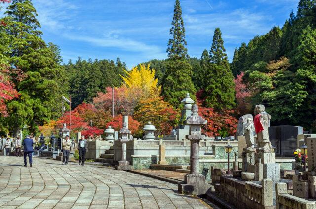 Hřbitov Okunoin, Kójasan, Japonsko