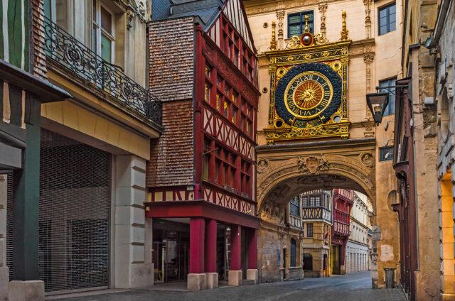Hodinová brána v Rouen
