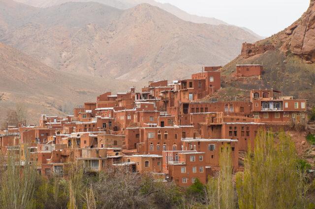Horská vesnička, Abjáne, Írán