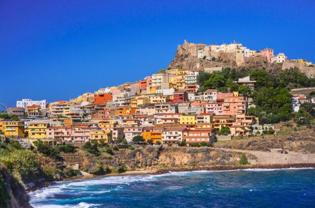 Hrad a městečko, Castelsardo, Sardinie