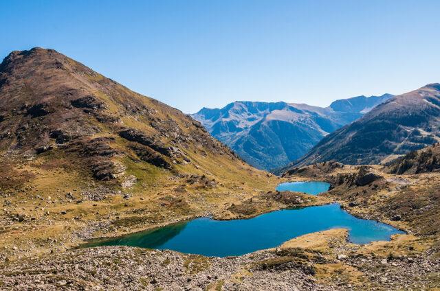 Jezera v kotlině Tristaina, Andorra