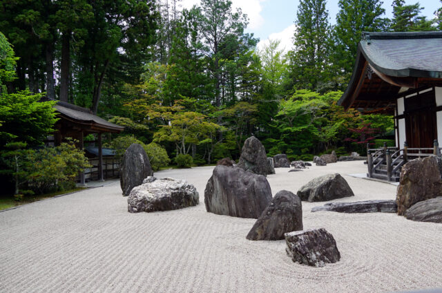 Kamenná zahrada, Kójasan, Japonsko