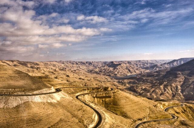 Královská cesta, Wadi Mudžib, Jordánsko