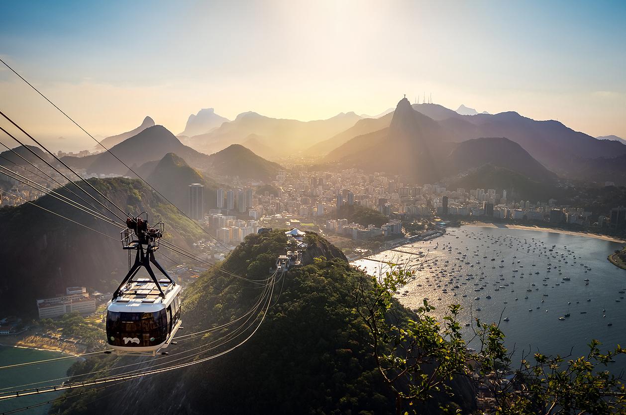 Lanovka na Pao de Acúcar, Brazílie
