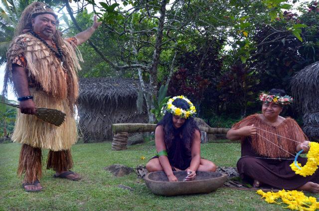 Maorská vesnice, Rarotonga, Cookovy o.