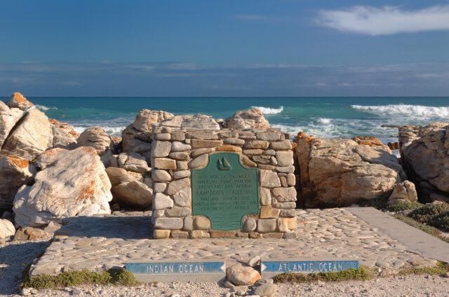 Nejjižnější bod Afriky Cape Agulhas, JAR