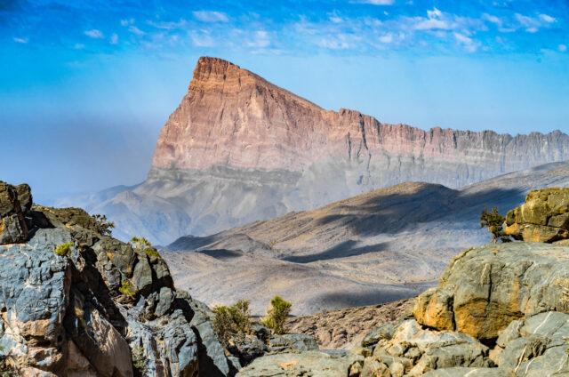 Nejvyšší hora Džabal Šams, Omán