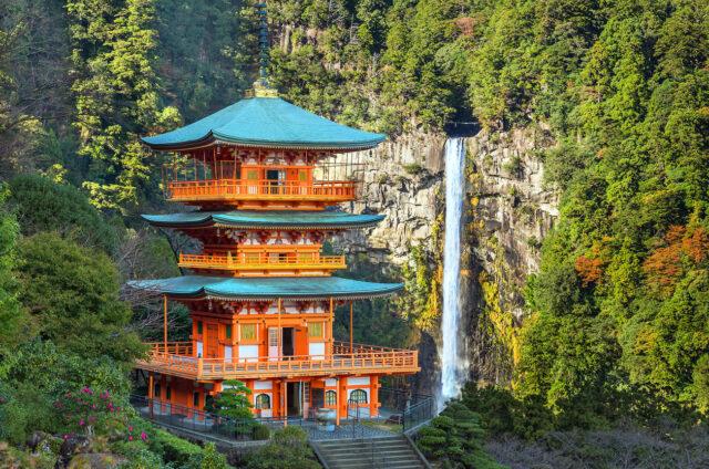Nejvyšší vodopád Nači, Japonsko