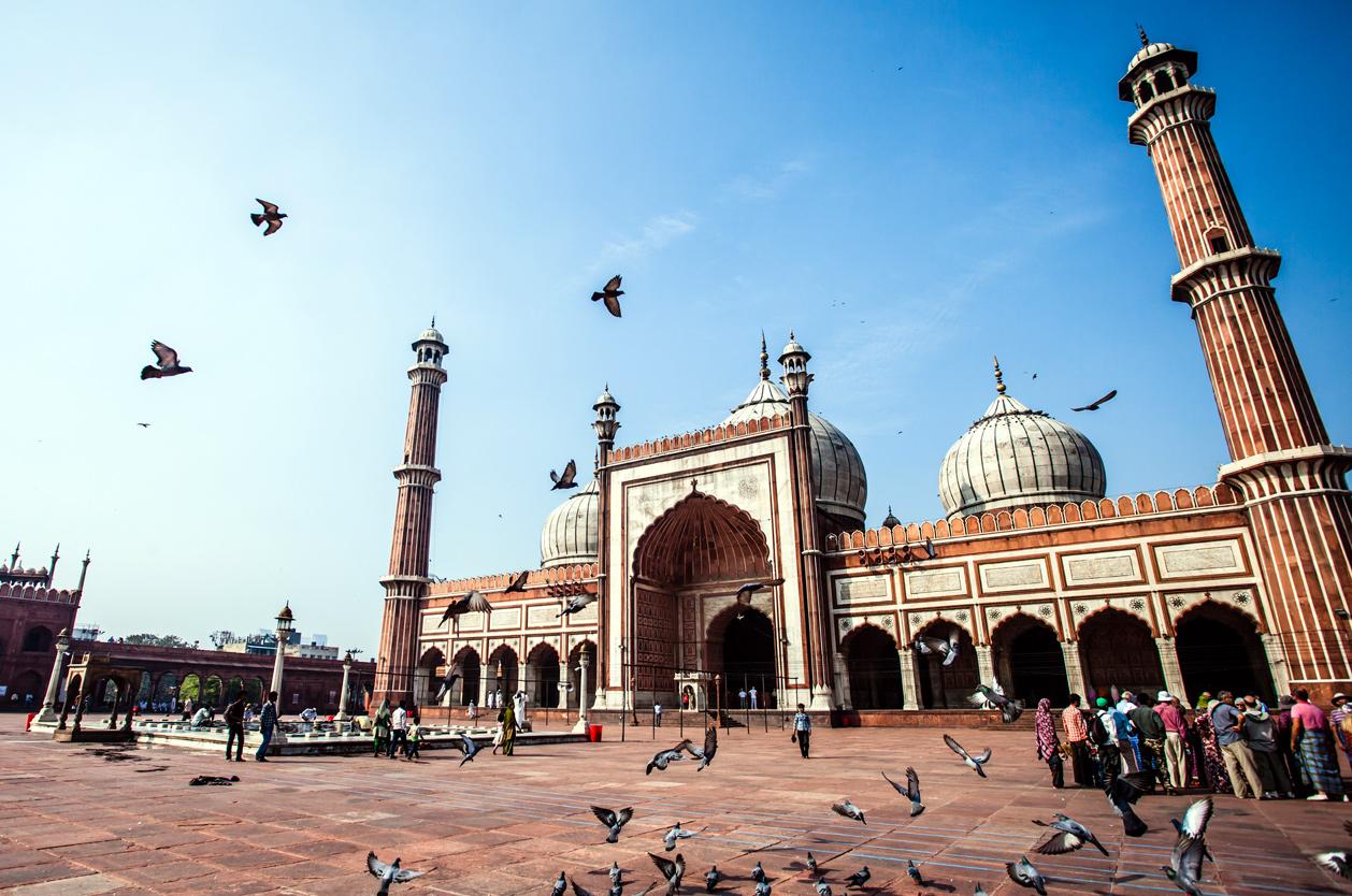 Páteční mešita ve Starém Dillí, Indie