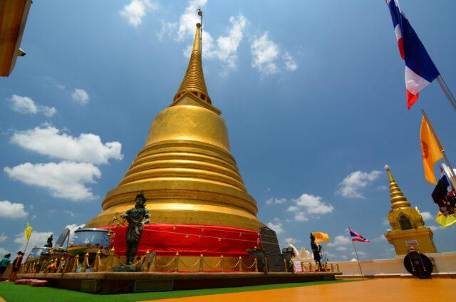 Posvátná zlatá hora Wat Saket, Bangkok, Thajsko
