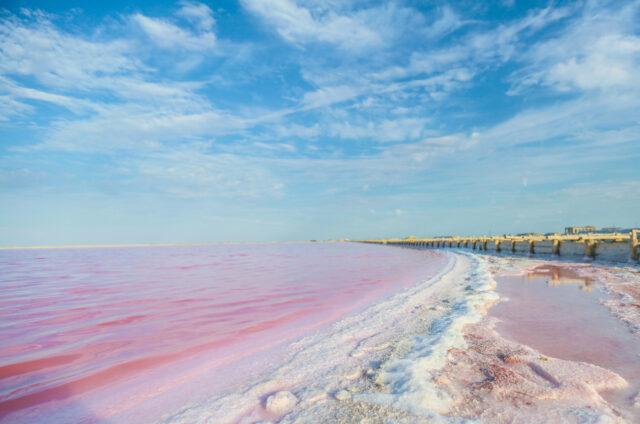 Růžové jezero, Senegal