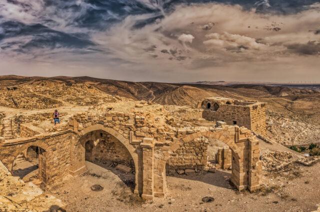 Ruiny hradu, Ajloun, Jordánsko