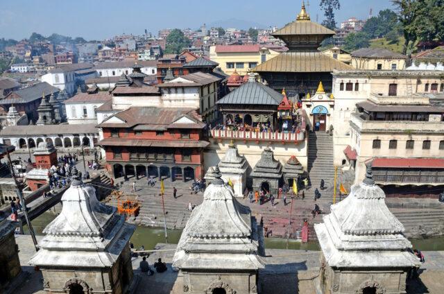 Spalování mrtvých, Pašupatináth, Nepál