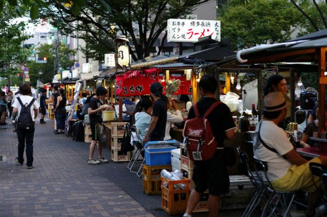 Stánky jatai, Fukuoka, Japonsko