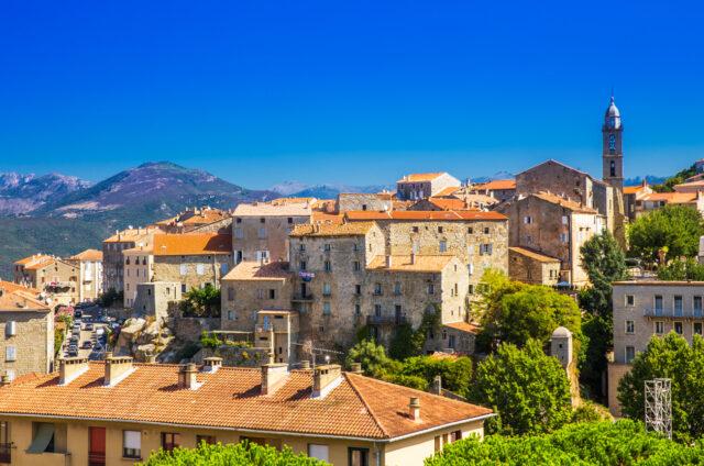 Staré město Sarténe, Korsika, Francie