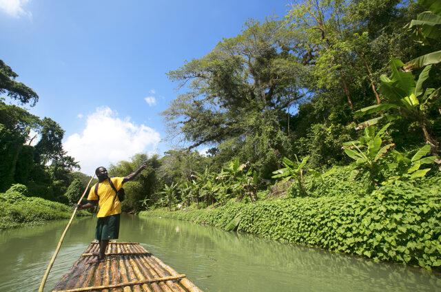 Tradiční bambusový vor, Jamajka