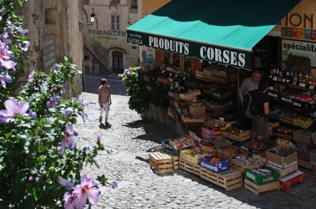Tradiční obchůdek, Corte, Korsika