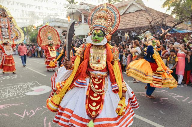 Tradiční tanec kathakali, Kerála, Indie