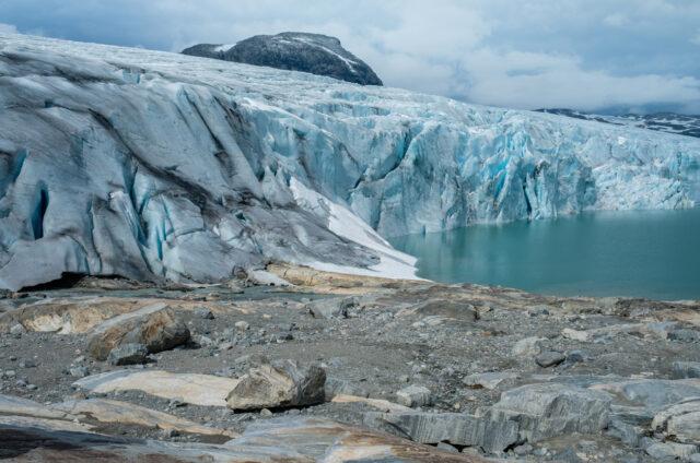 Výhled na ledovec Jostedalsbreen